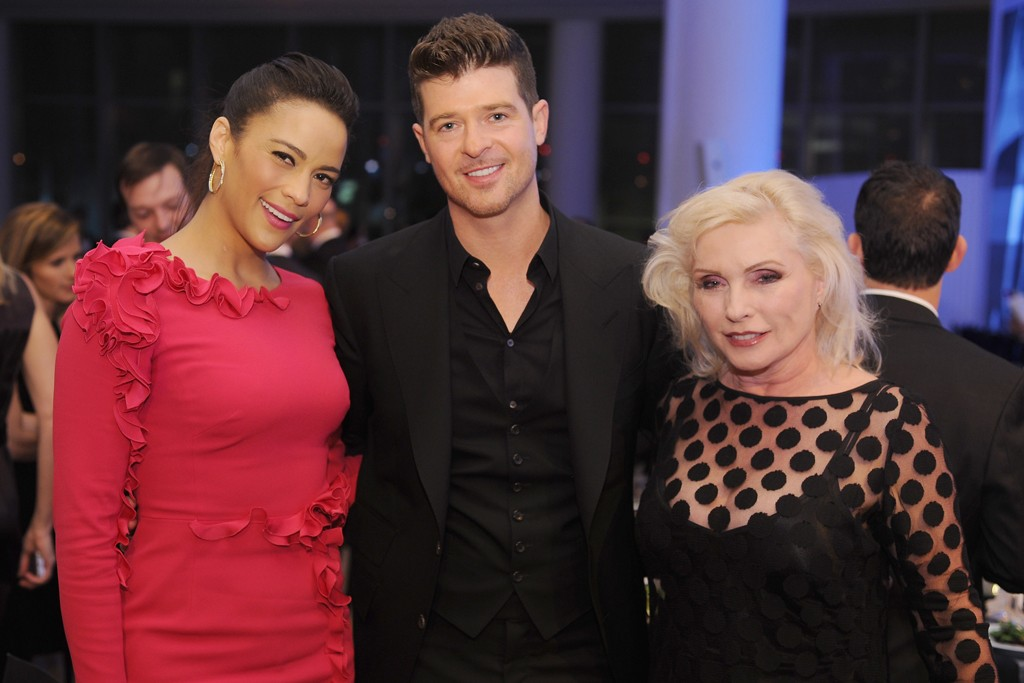 Paula Patton, Robin Thicke and Debbie Harry.