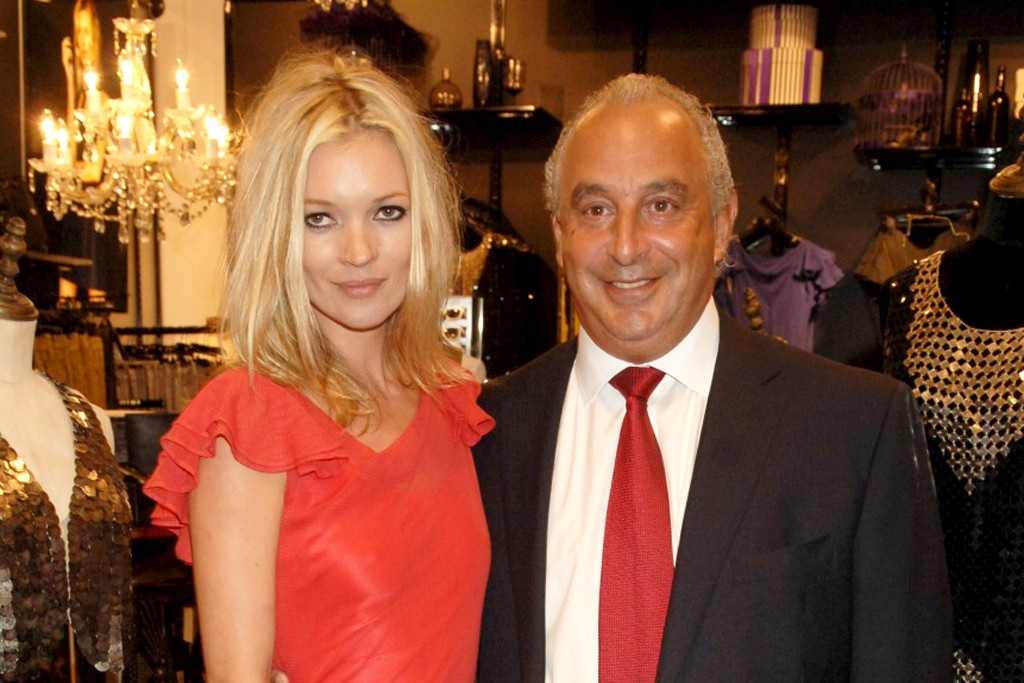 Kate Moss and Sir Philip Green.