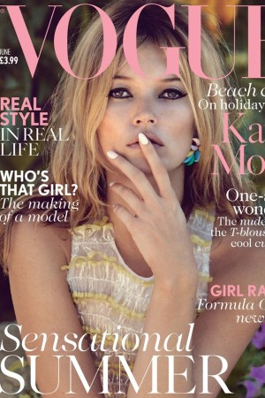 Kate Moss on the June 2013 cover of British Vogue