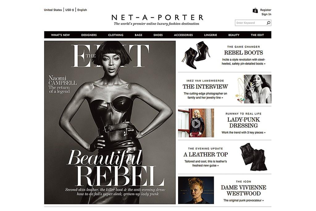 The Net-a-porter Web site.