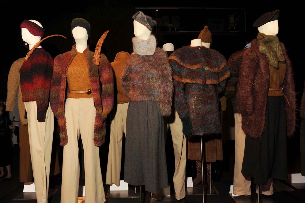 The exhibition of Perry Ellis designs.