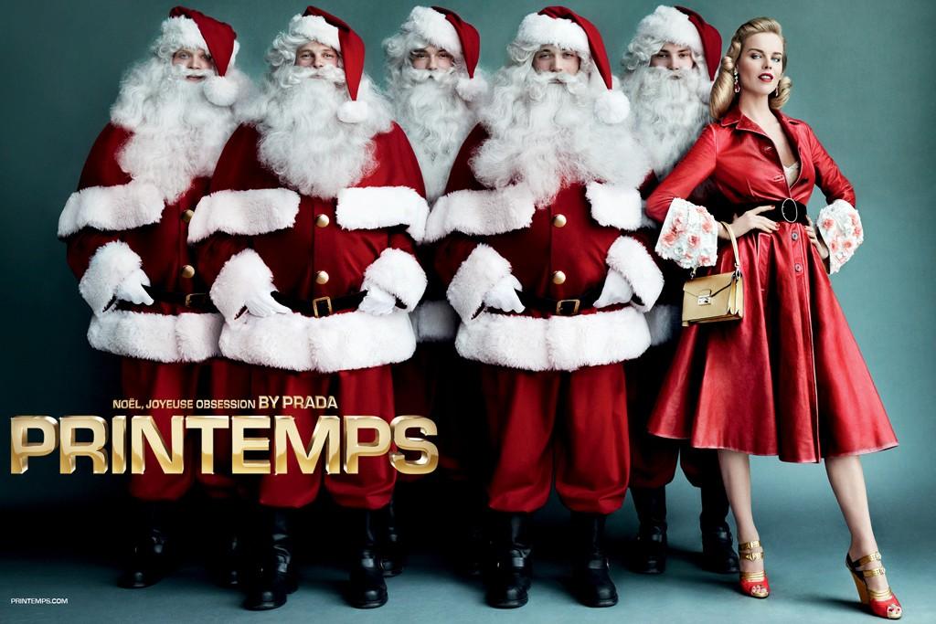 The Printemps Christmas ad campaign.