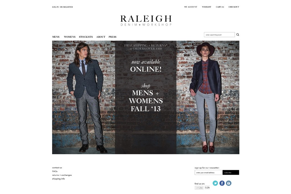 Raleigh's homepage