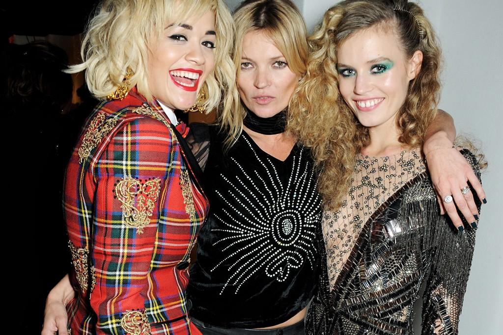 Rita Ora, Kate Moss and Georgia May Jagger.
