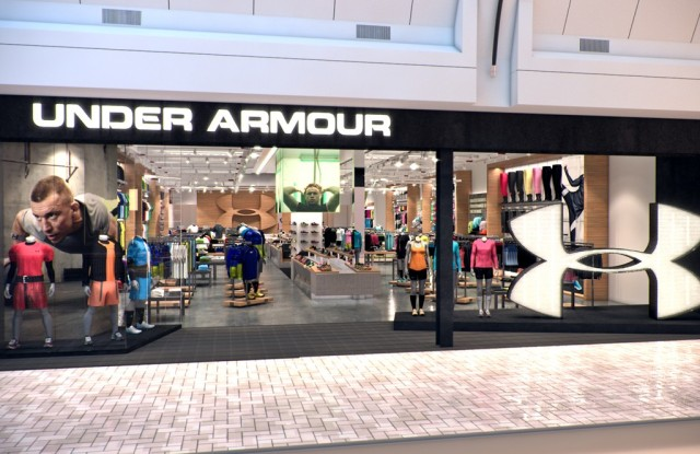 A rendering of Under Armour's Tysons Corner store.