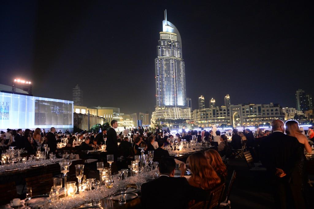 The scene at the Armani Pavilion in Dubai.