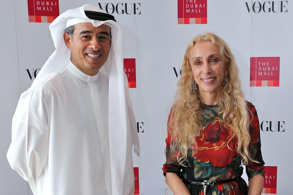 Mohamed Alabbar and Franca Sozzani