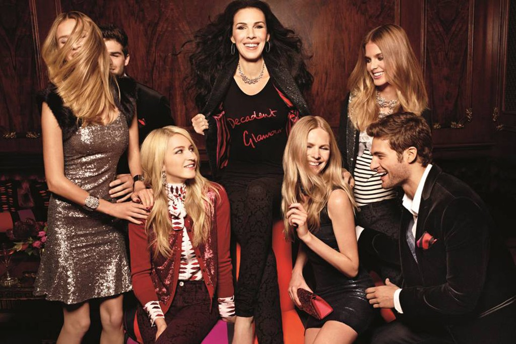 L'Wren Scott and models in the ad for her Banana Republic line.