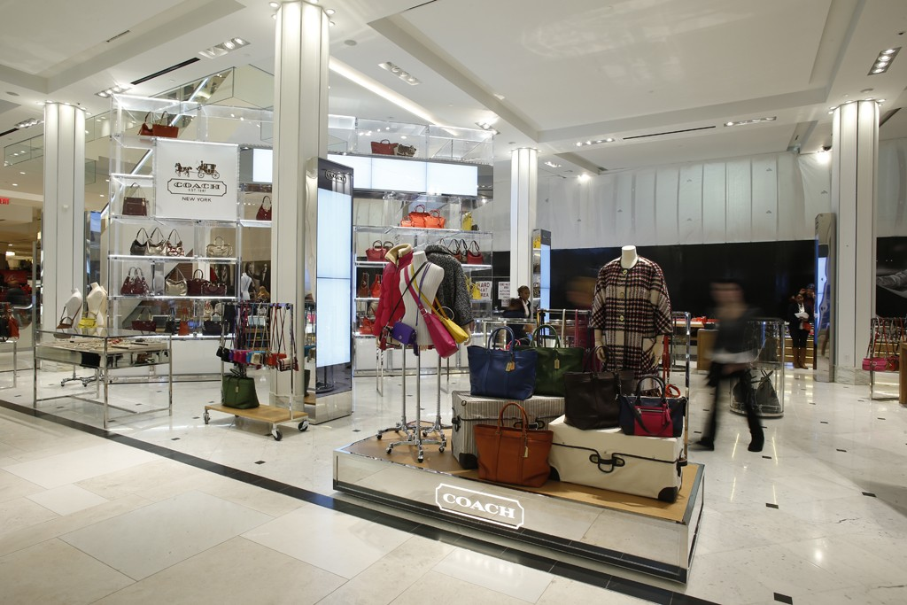 Handbags, shown here at the Coach shop at Macy's Herald Square, were strong in the quarter.