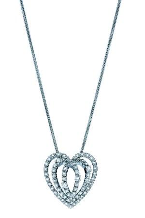 A Damiani diamond heart pendant