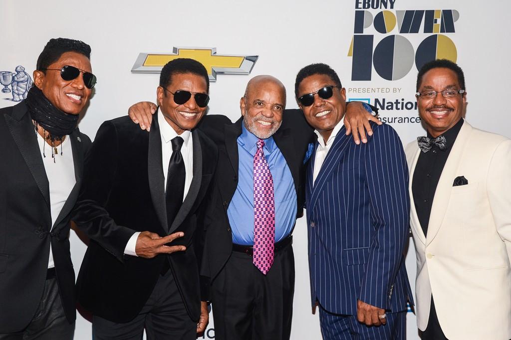 Jermaine Jackson, Jackie Jackson, Berry Gordy, Tito Jackson and Marlon Jackson.