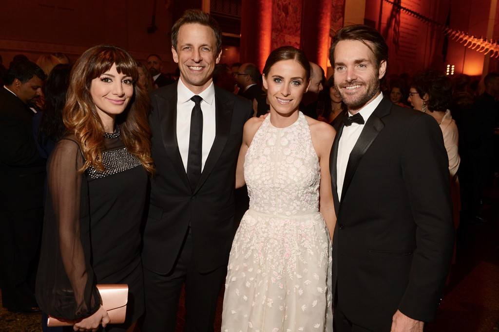 Nasim Pedrad, Seth Meyers, Alexi Ashe and Will Forte.