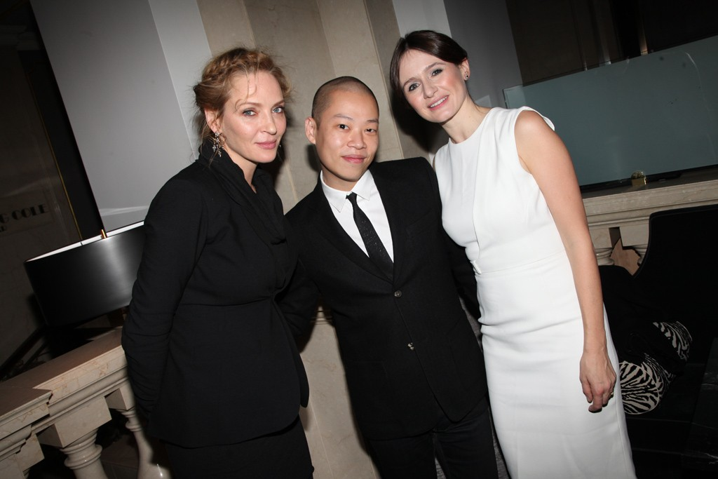 Uma Thurman, Jason Wu and Emily Mortimer in Jason Wu.