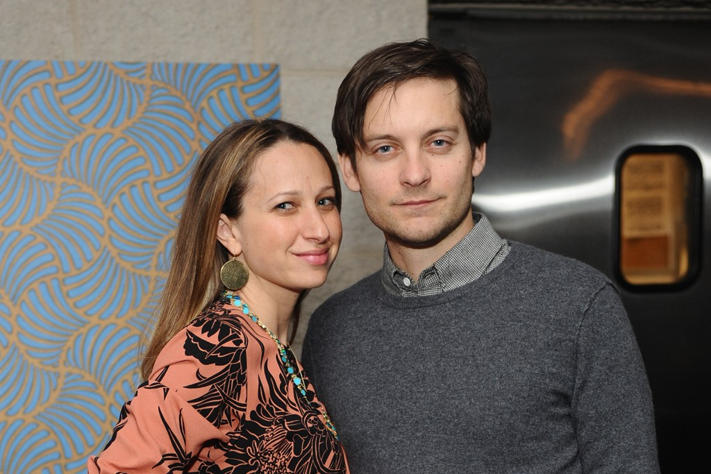 Jennifer Meyer Maguire in Prada with Tobey Maguire.