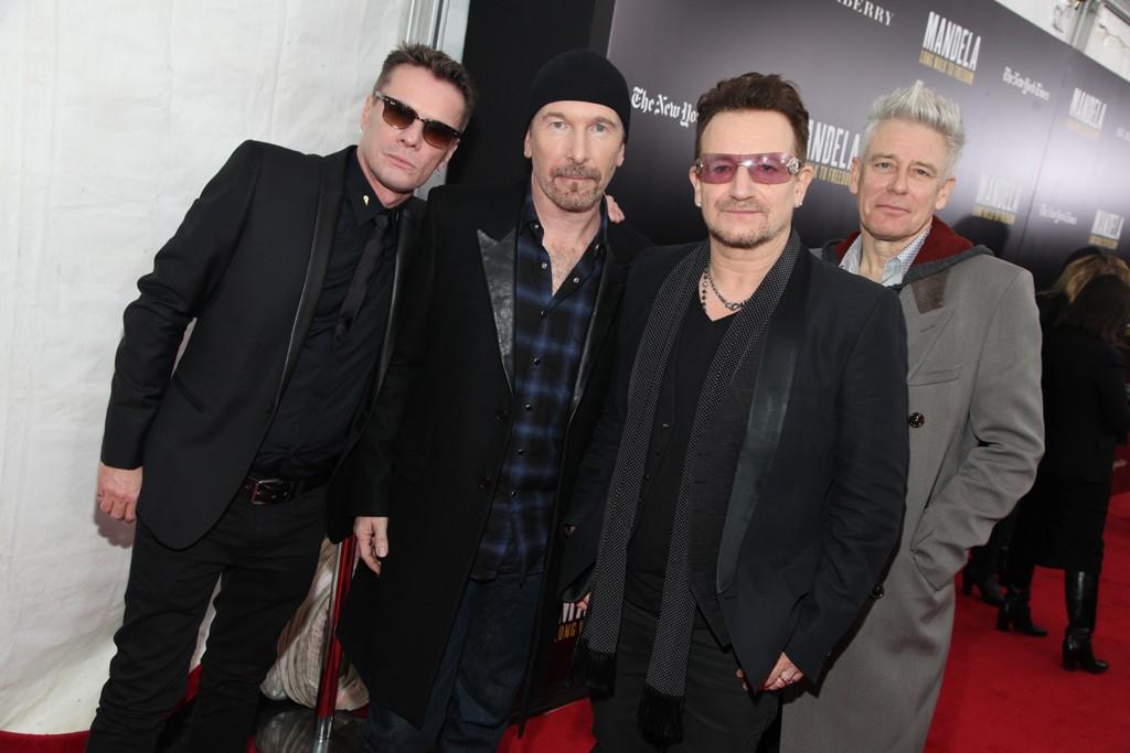 Larry Mullen Jr., The Edge, Bono and Adam Clayton.