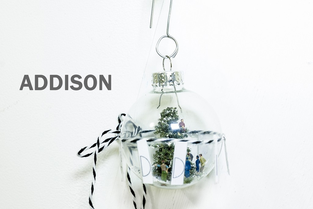 An ornament by Addison for the Save the Garment Center initiative.
