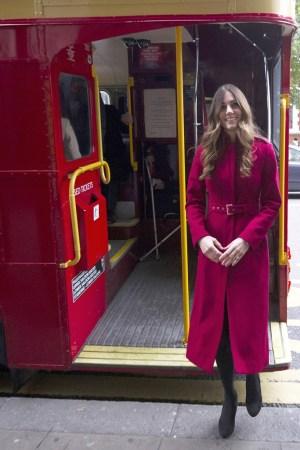 The Duchess of Cambridge in an L.K. Bennett coat.