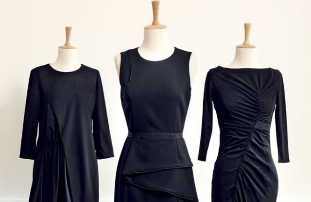 Black dresses for sale at Monoprix.