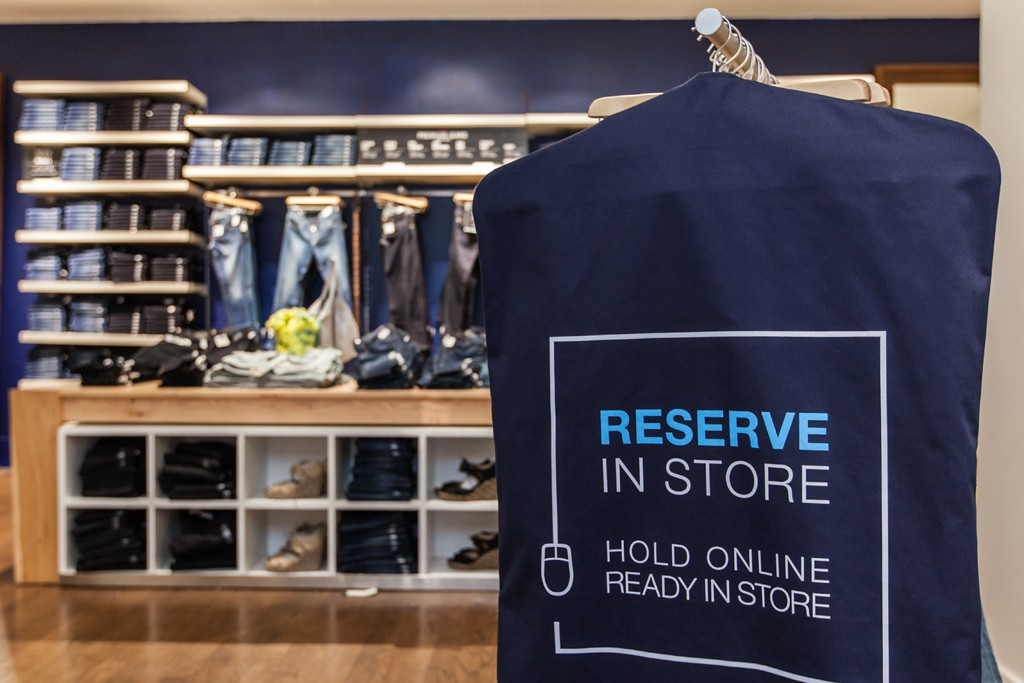 Gap is testing ordering online, pick up in the store.