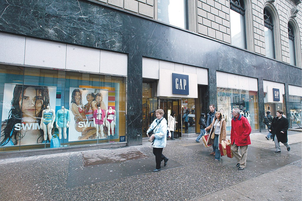Outside the Gap store