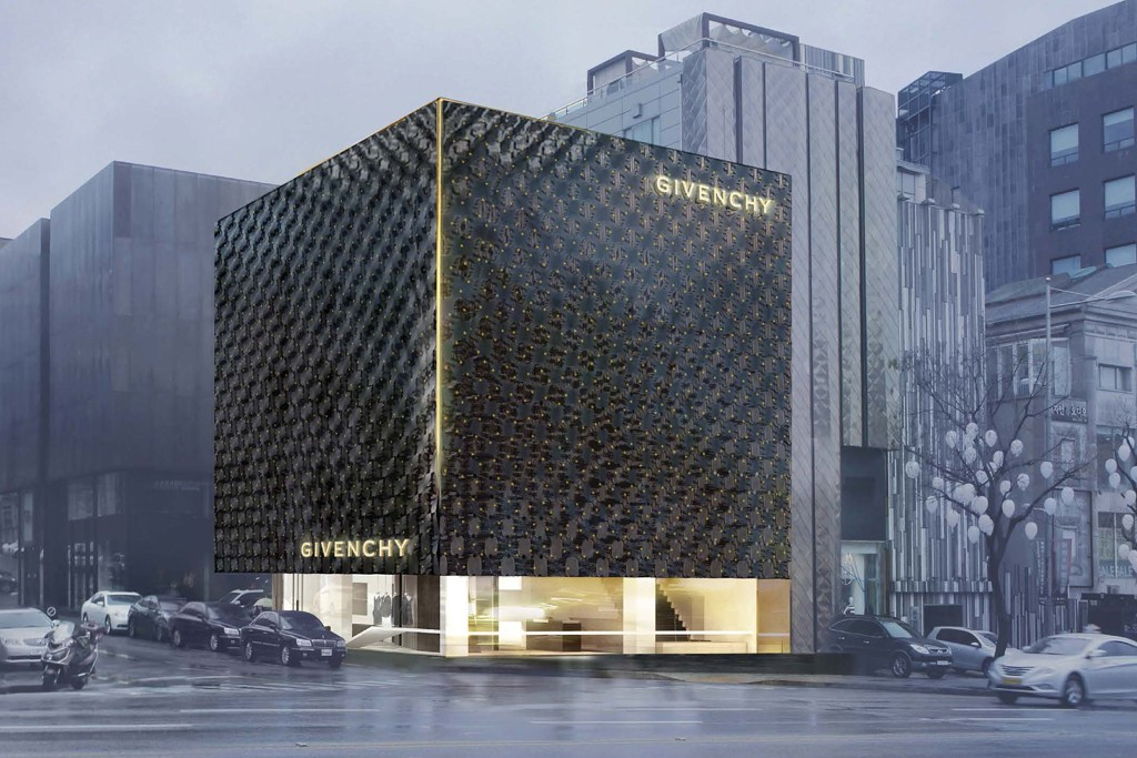 The Givenchy store in Seoul.