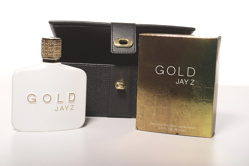 The Gold Jay Z fragrance and gift box.