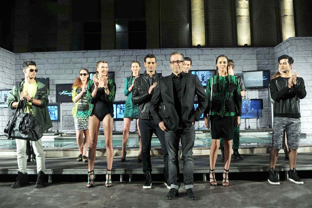 Kenneth Cole at his first fashion show in India.
