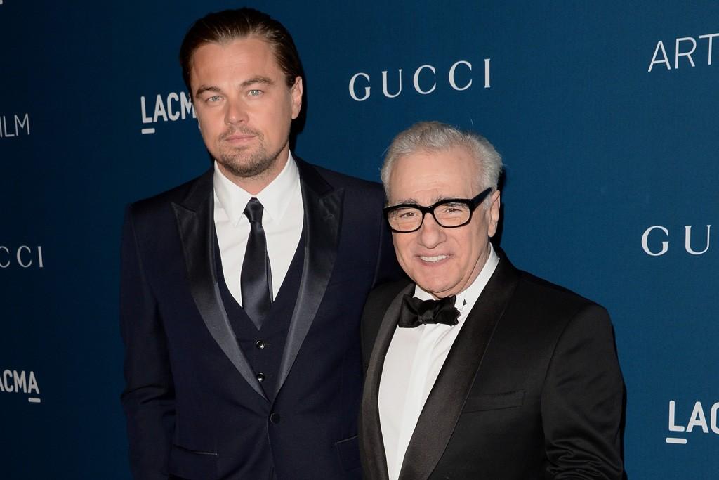 Leonardo DiCaprio and Martin Scorsese, both in Gucci.