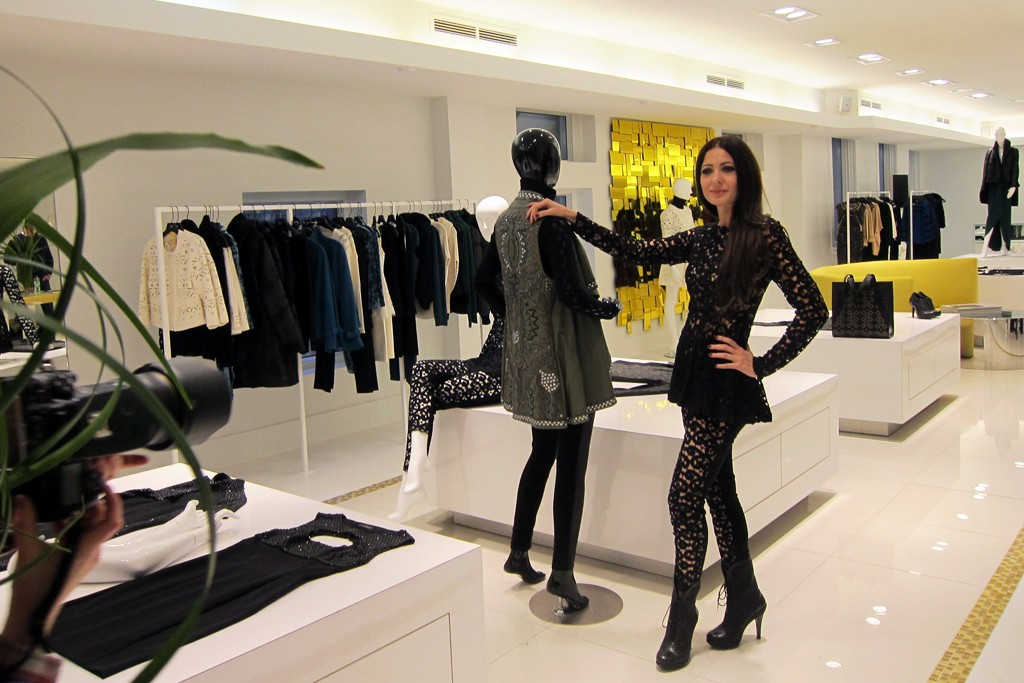 Catherine Malandrino at the opening of her boutique in Montreal.