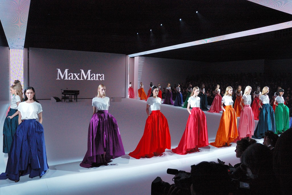 The scene at the Max Mara show in Tokyo.