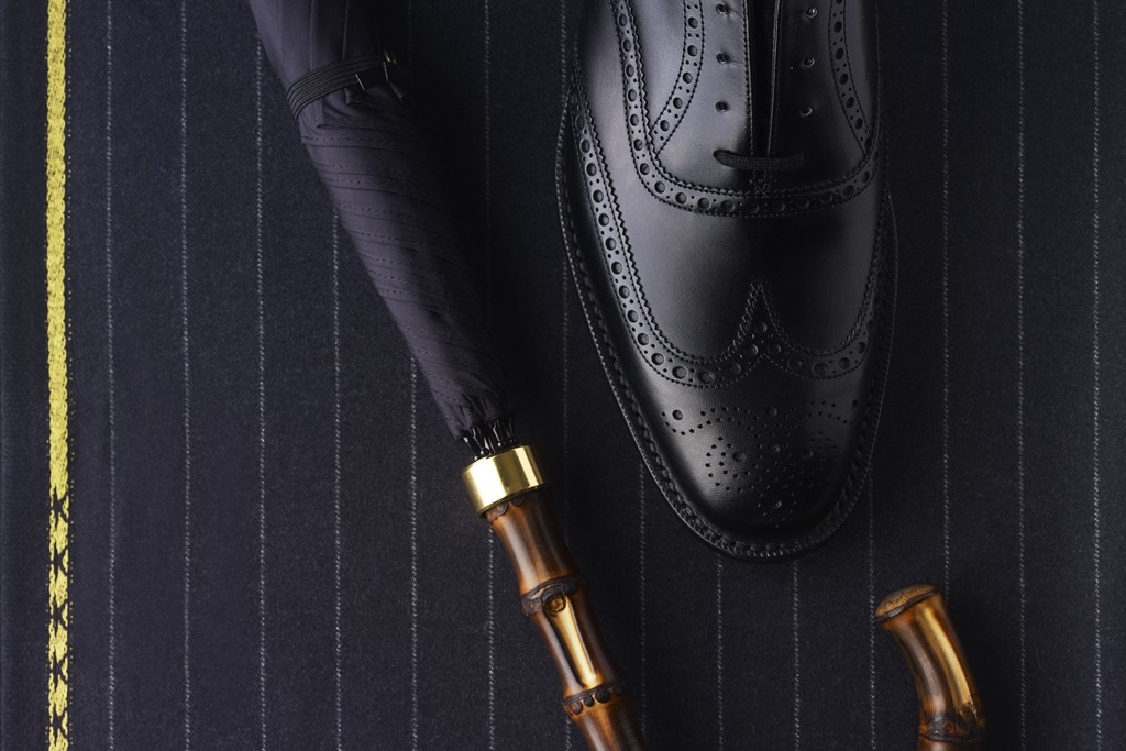 Fox Umbrella and Church's City Line Eastcote Wing Tip Shoe.