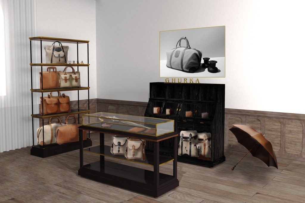 A rendering of the Ghurka in-store shop concept at Fred Segal Man in Santa Monica, Calif.