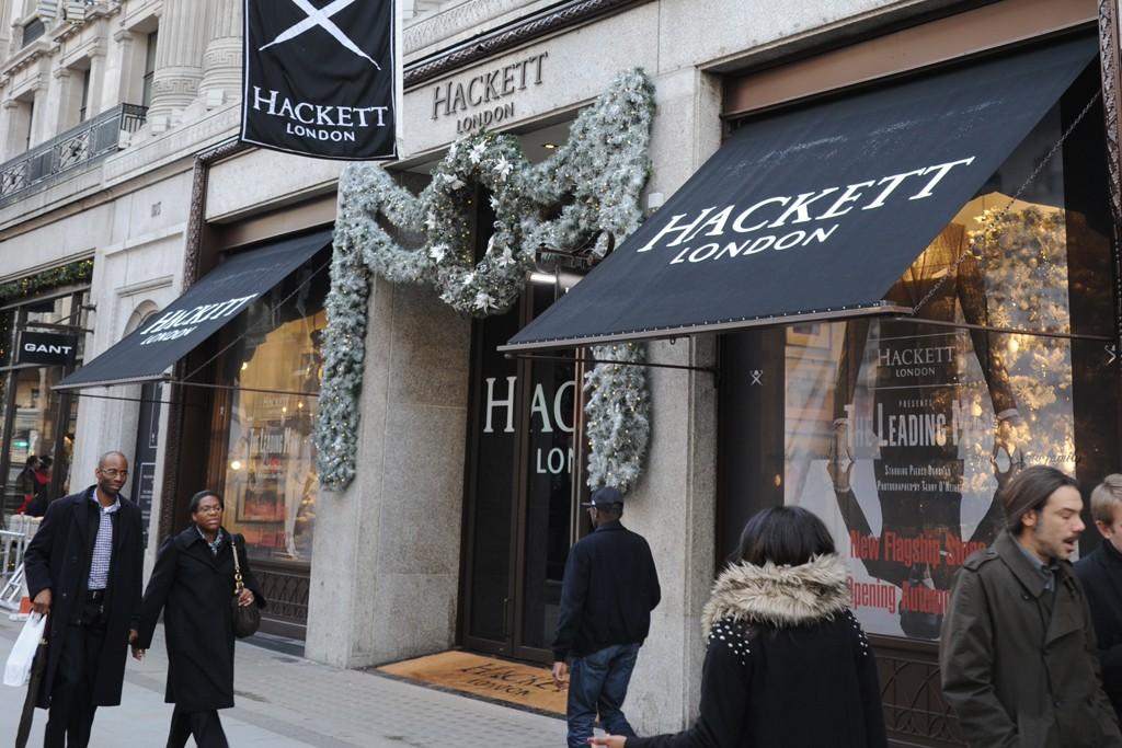 The Hackett London store on Regent Street.