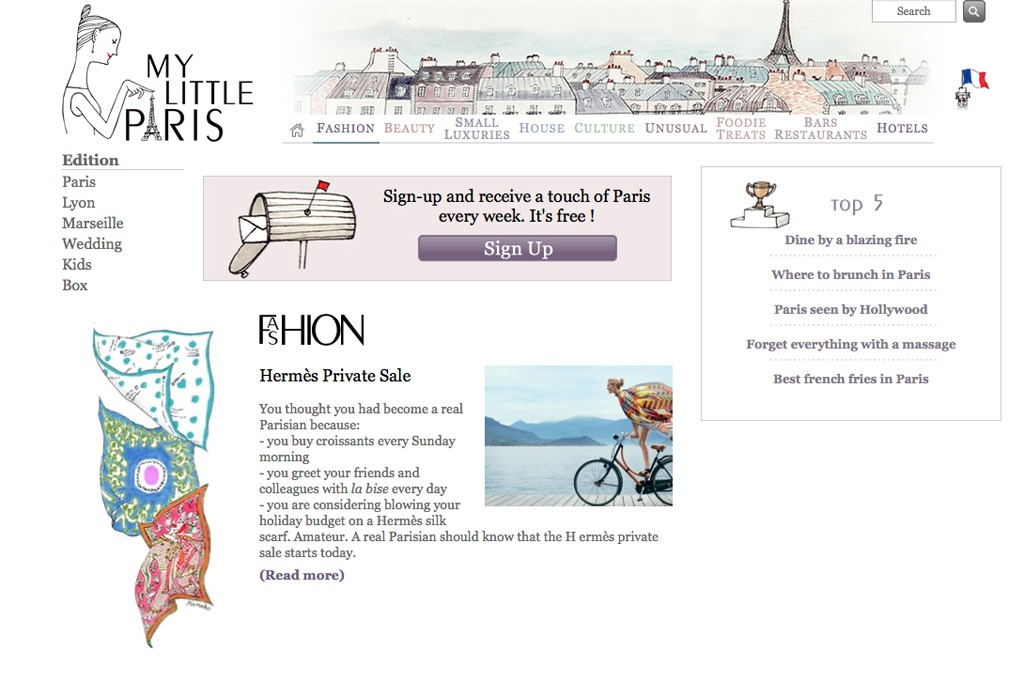 The homepage of My Little Paris