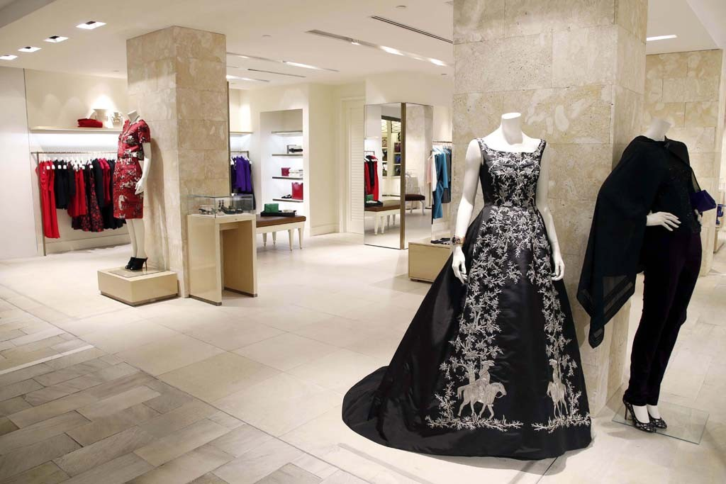 The Oscar de la Renta shop at Bloomingdale's in New York.