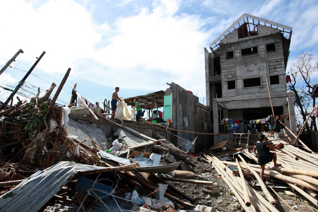 The long cleanup and rebuilding process is getting under way in the Philippines.