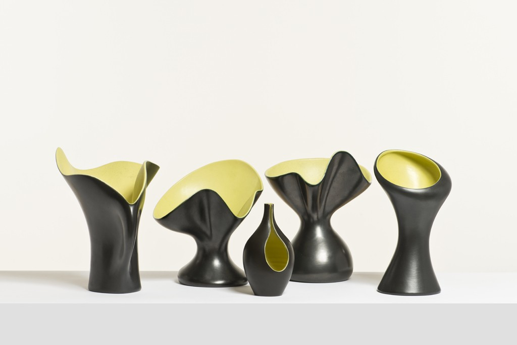 Pol Chambost vases with a corolla shape that inspired Raf Simons' fall 2009 collection for Jil Sander.