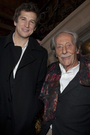 Guillaume Canet and Jean Rochefort after the Gucci Paris Masters.