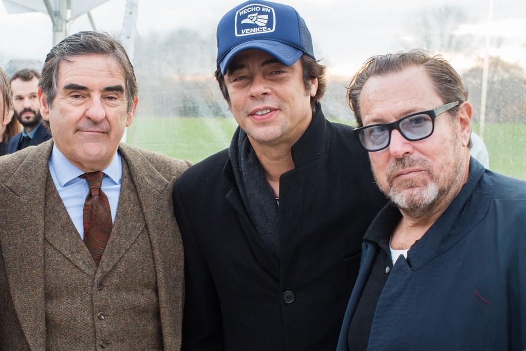 Peter Brant, Benicio Del Toro and Julian Schnabel.