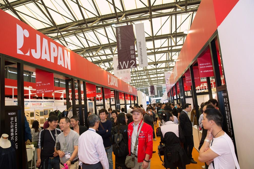 Inside the Intertextile Shanghai Apparel Fabrics Fair.