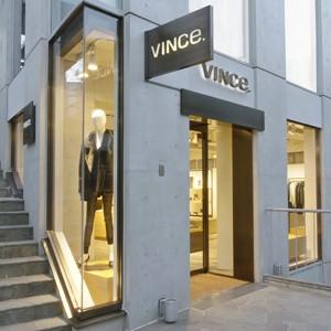 Outside a Vince store.