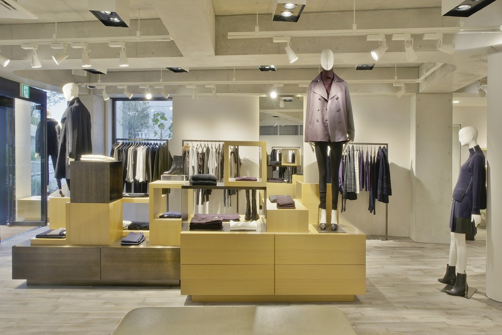 Inside the Vince Tokyo store.