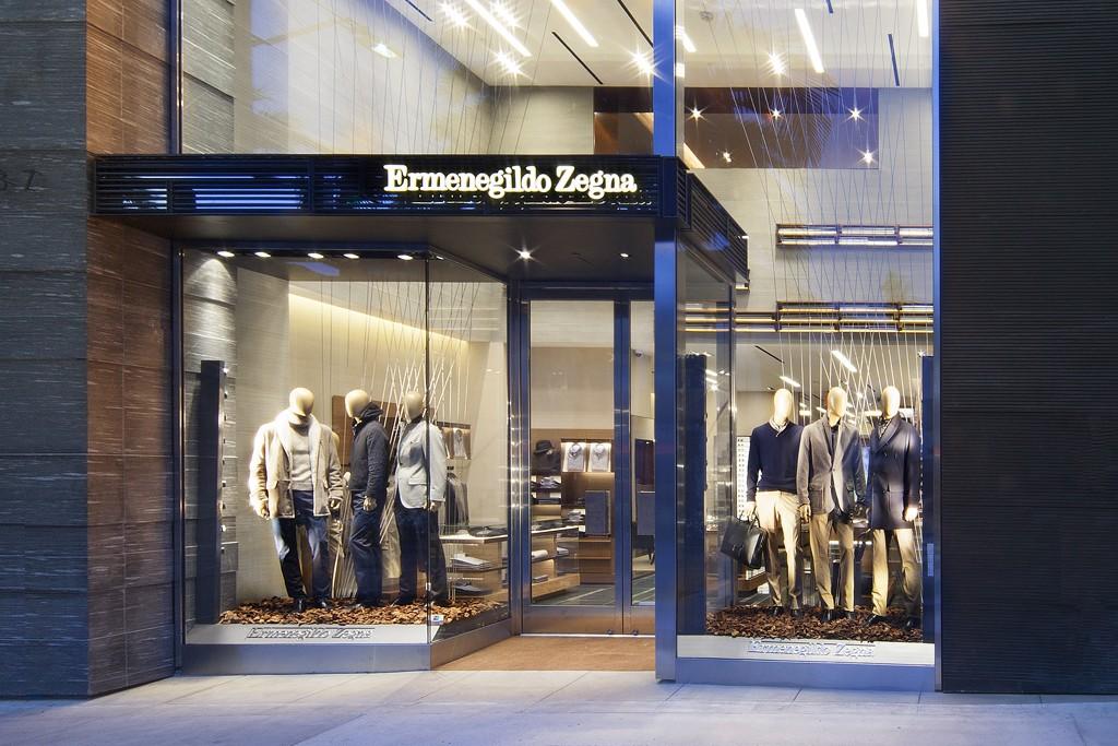 Inside the Ermenegildo Zegna's Rodeo Drive, Beverly Hills, store.