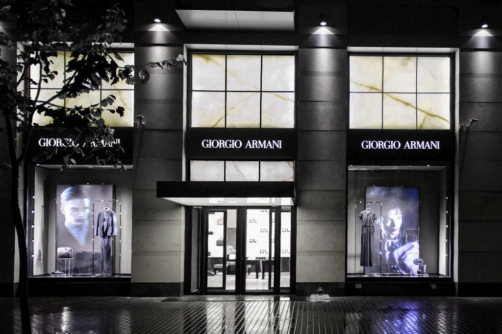 The Giorgio Armani store in St. Petersburg.