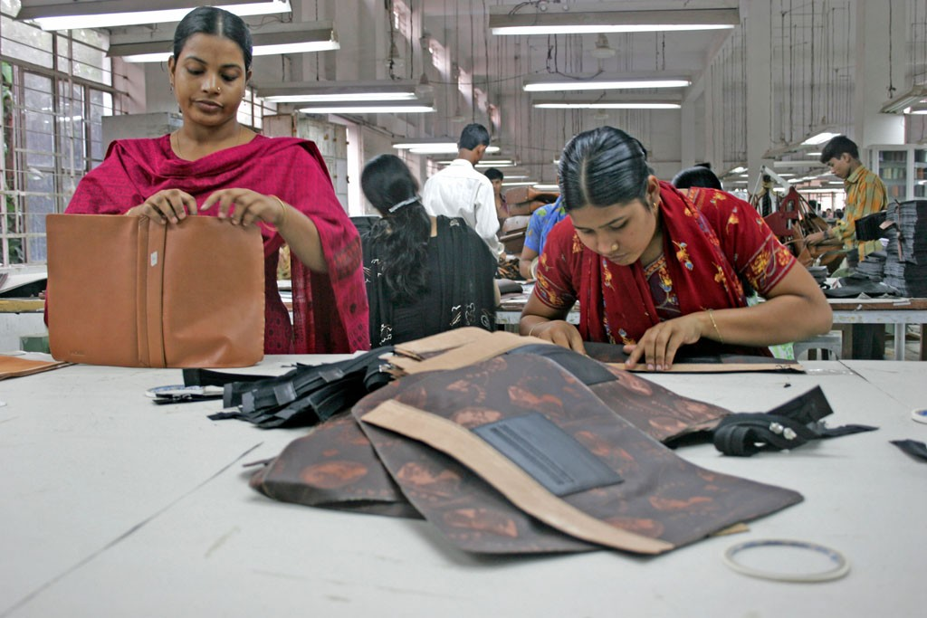 Workers at a factory in Ashulia.