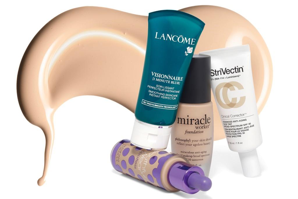 Lancôme Skin Perfector; StriVectin Tinted Sunscreen; Philosophy Foundation; Physicians Formula Foundation.