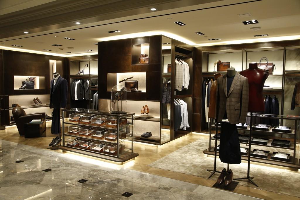 The Berluti shop at Bergdorf Goodman Men's.