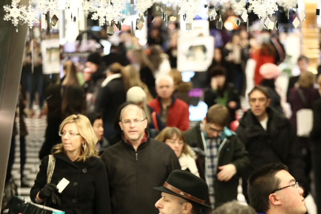 Shoppers on Black Friday in New York.