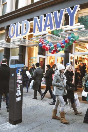 Old Navy in New York's SoHo neighborhood on Black Friday.