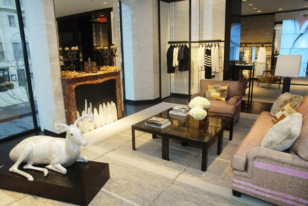 Inside the Chanel store on Newbury Street in Boston.